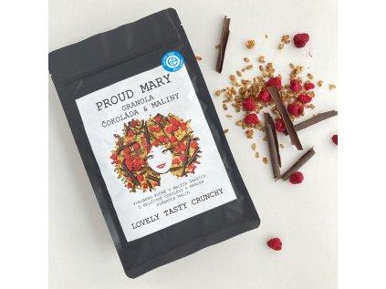 Proud Mary Granola malina čokoláda BEZLEPKOVÁ (gramáž 400 g)