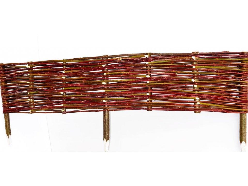 Proutěné obruby záhonů délka 150 cm výška 20 cm