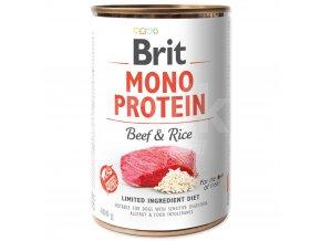 brit monoprotein beef rice