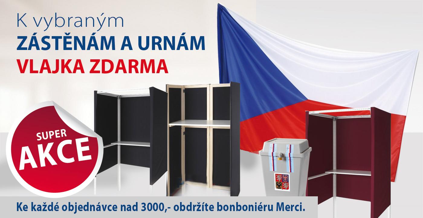 K vybraným zástěnám a urnám vlajka ČR ZDARMA