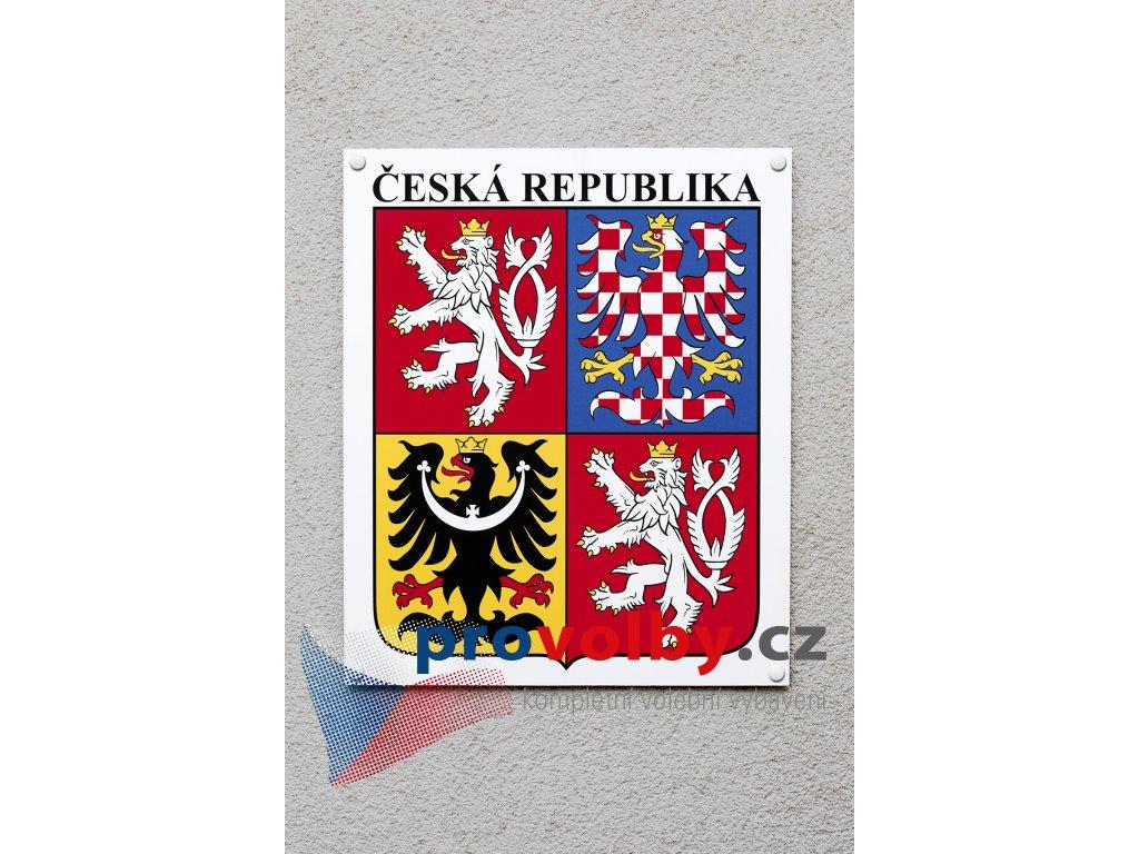 státní znak na fasádu dibond barevný