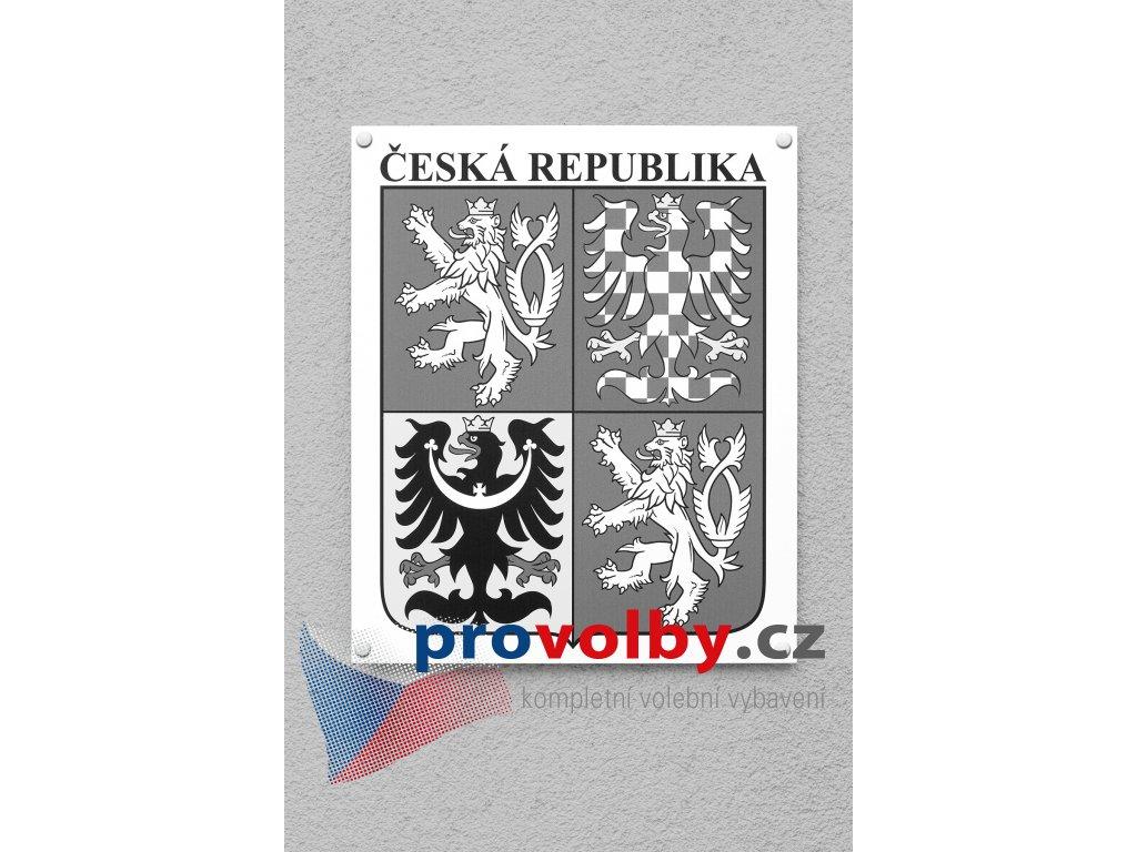státní znak do exteriéru dibond černobílý (2)