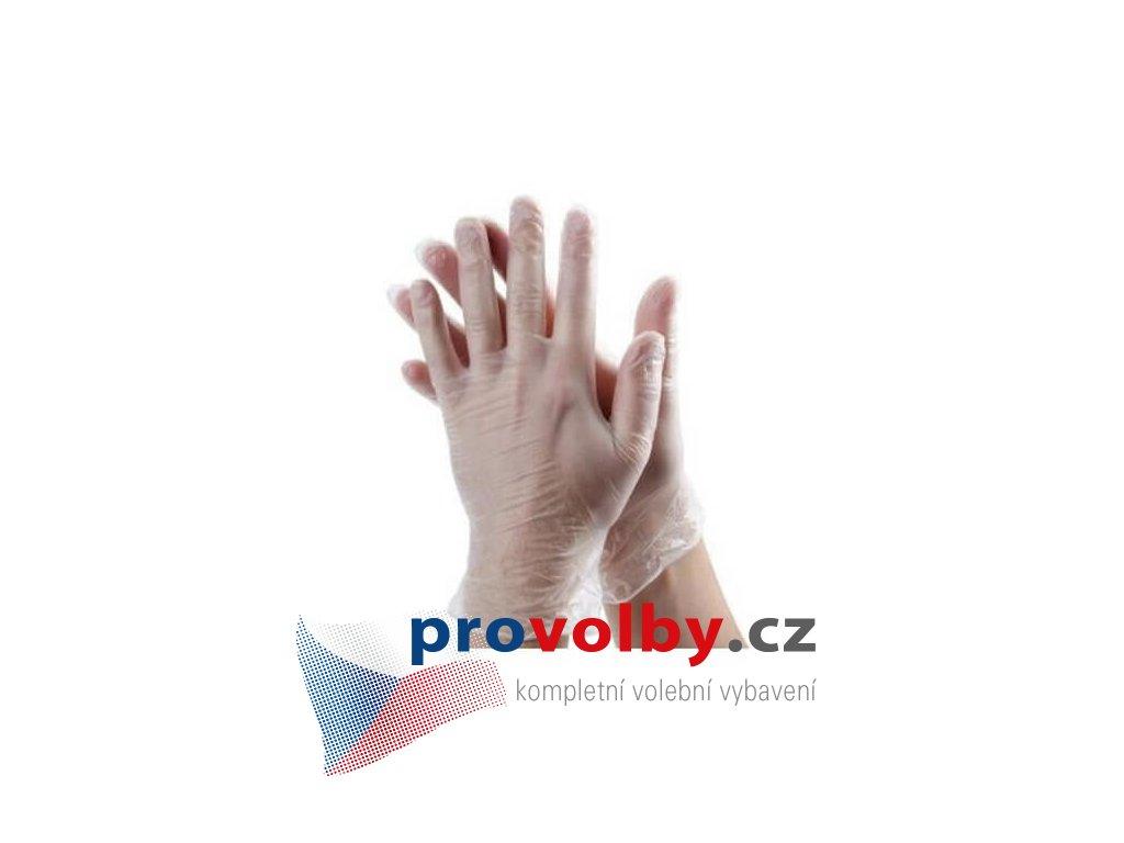 jednorazove rukavice vinylove transparentni 100 ks