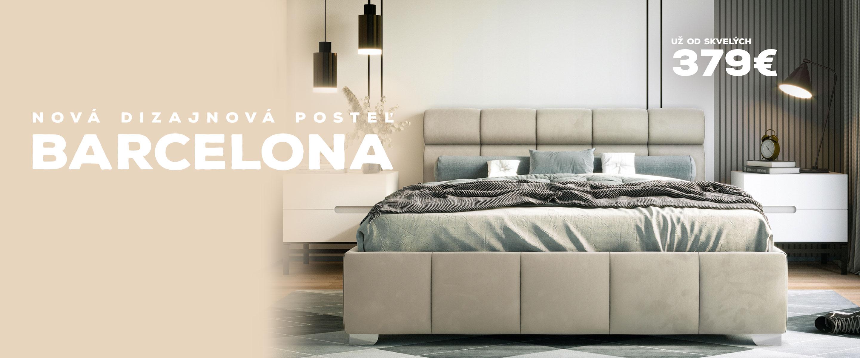 Dizajnová posteľ BARCELONA