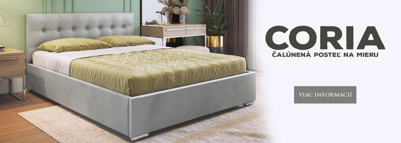 Čalúnená posteľ na mieru