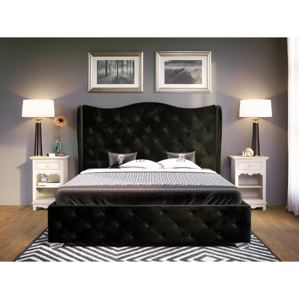 PROXIMA.store Čalúnená posteľ Bolonia čierná 2