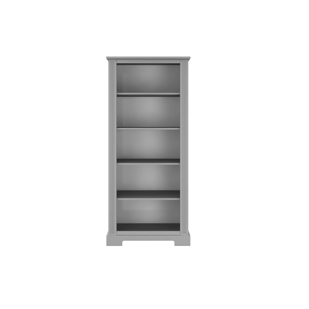 Ines grey bookcase 01 white back