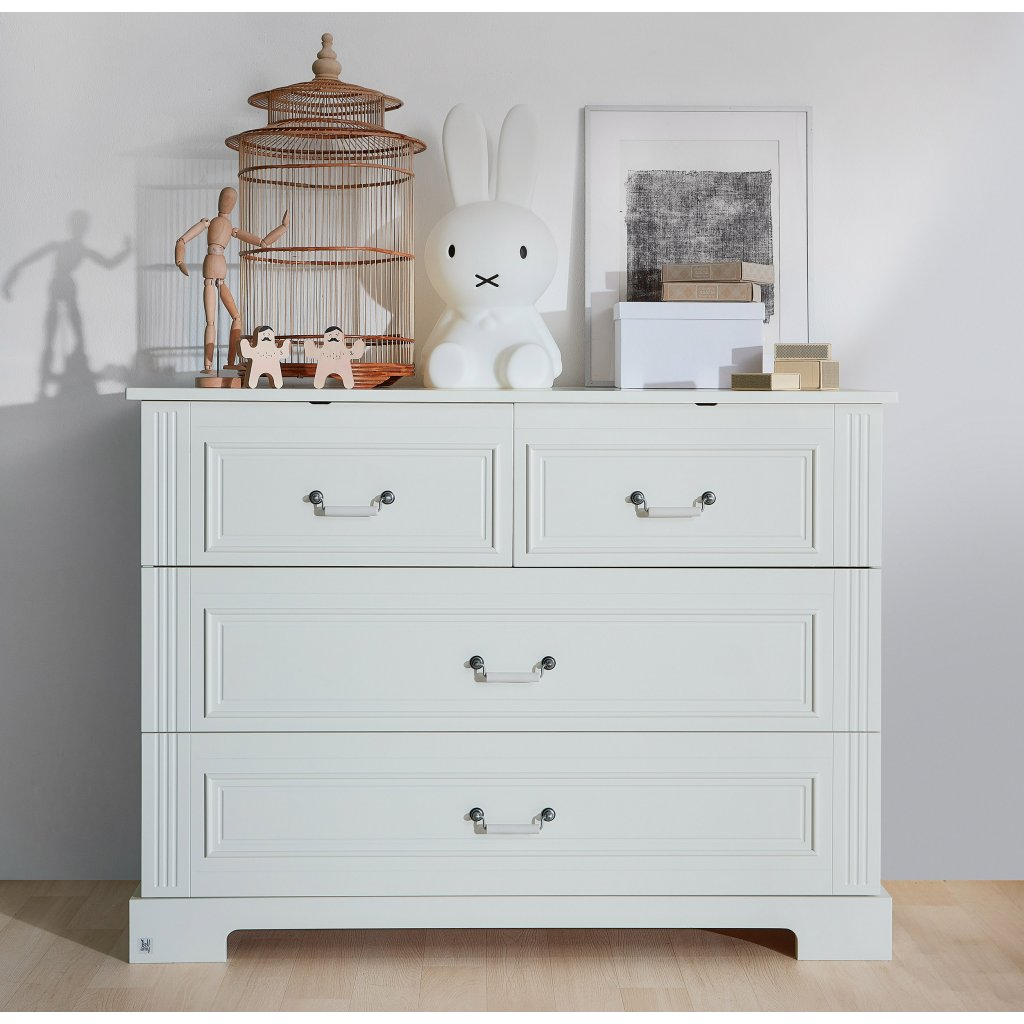 Ines white 4 drawer chest lifestyle