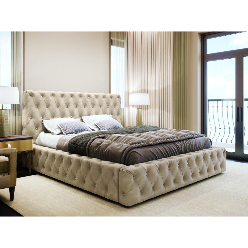 ROXIMA.store Čalúnená posteľ AMADEUS II béžová 5