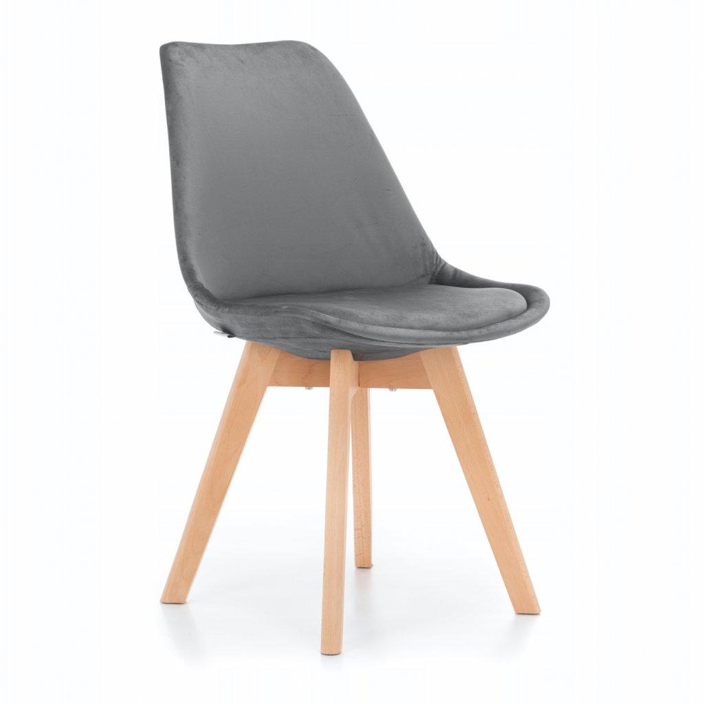 PROXIMA.store Jedálenská stolička DUBLIN sivá velúr 8