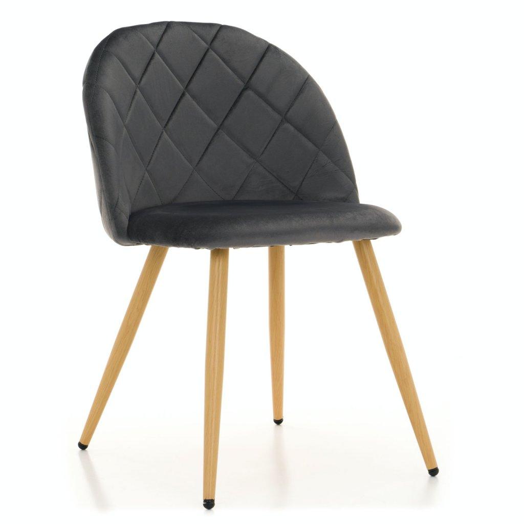 PROXIMA.store jedálenská stolička MODENA tmavosivá bukové nohy 1