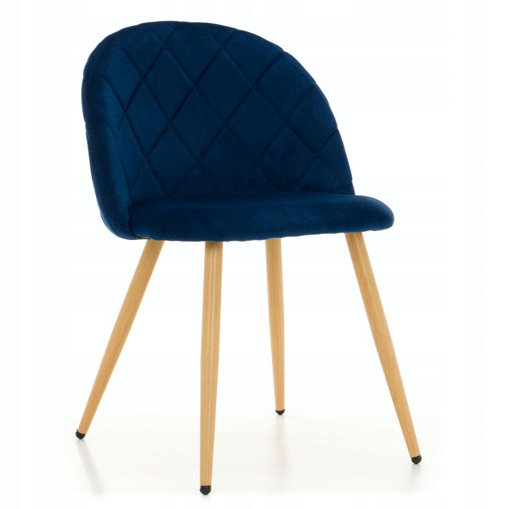 PROXIMA.store jedálenská stolička MODENA modrá bukové nohy 1