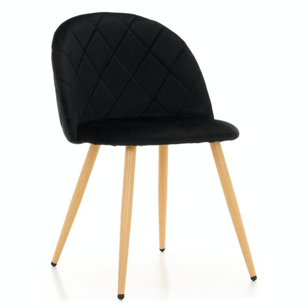 PROXIMA.store jedálenská stolička MODENA čierna bukové nohy 1