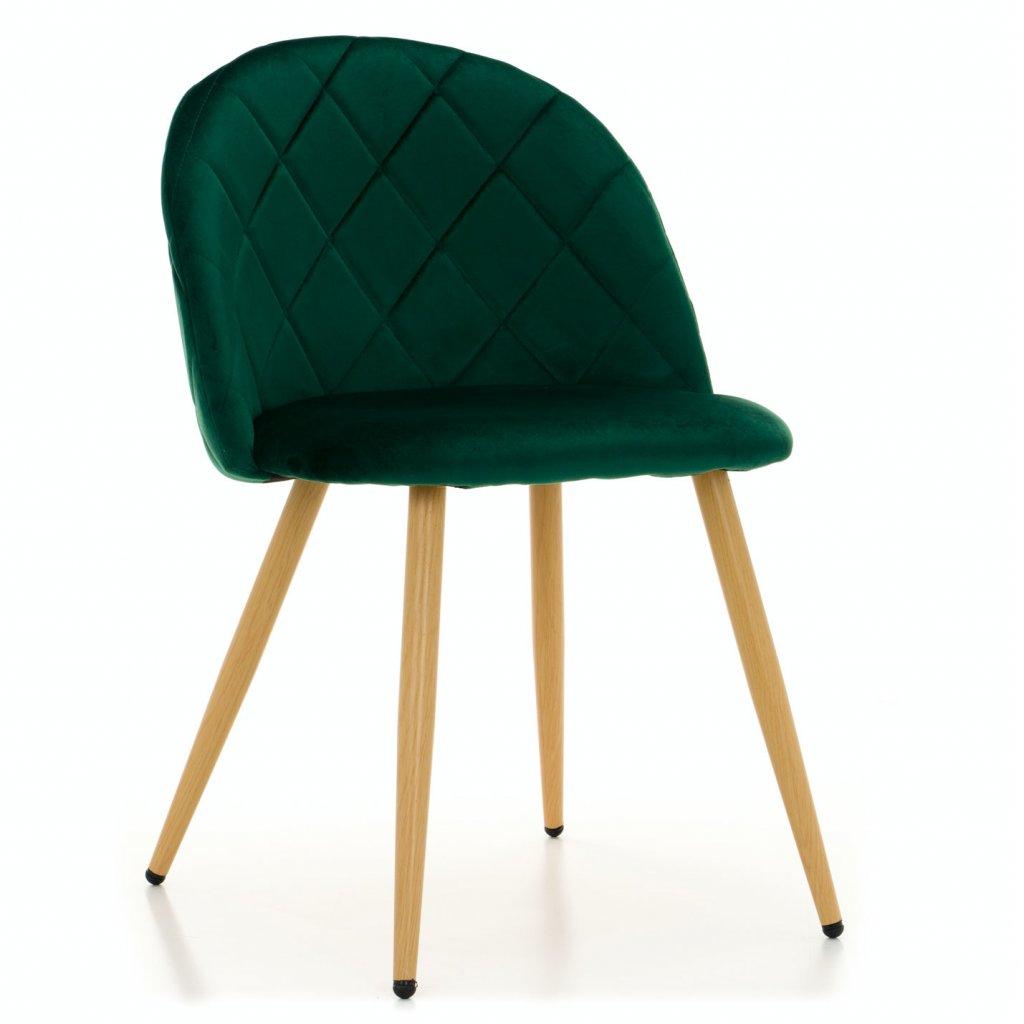 PROXIMA.store jedálenská stolička MODENA zelená bukové nohy 1