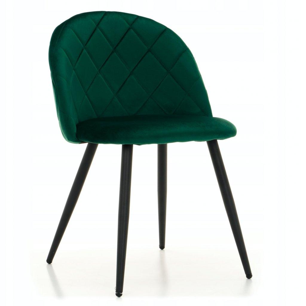 PROXIMA.store jedálenská stolička MODENA 3 zelená kovové čierne nohy 1