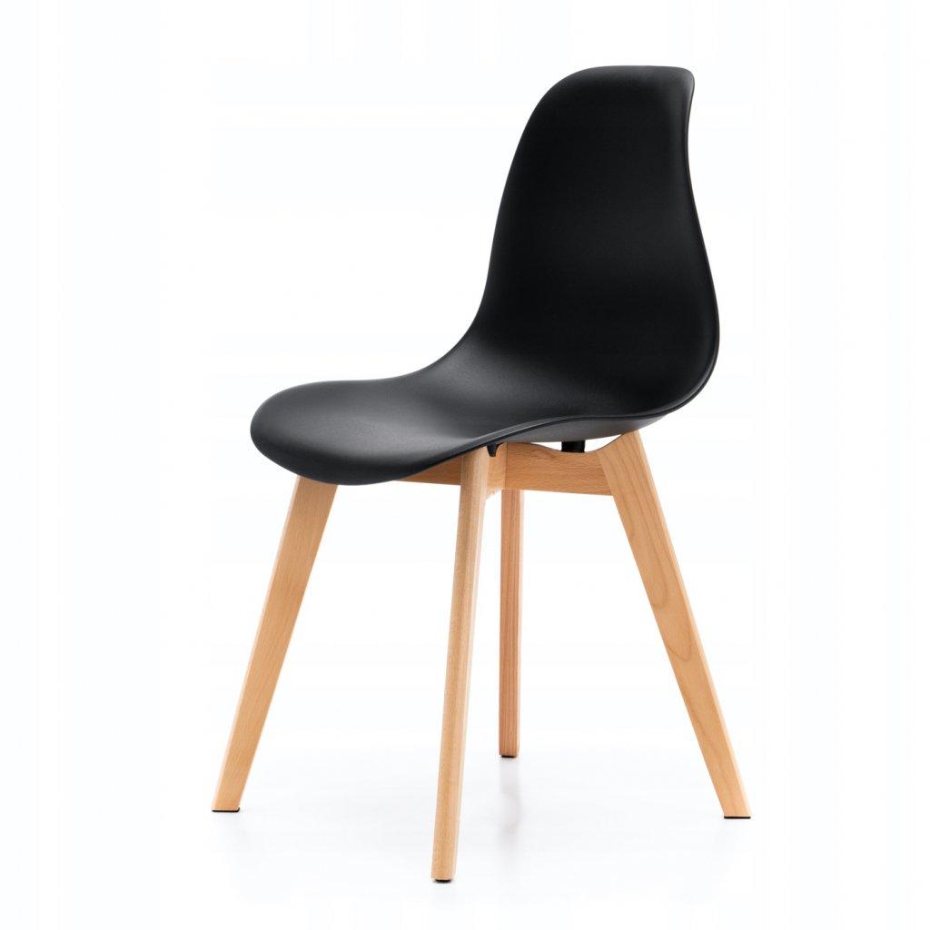 PROXIMA.store škandinávska jedálenská stolička SK17 čierna 7