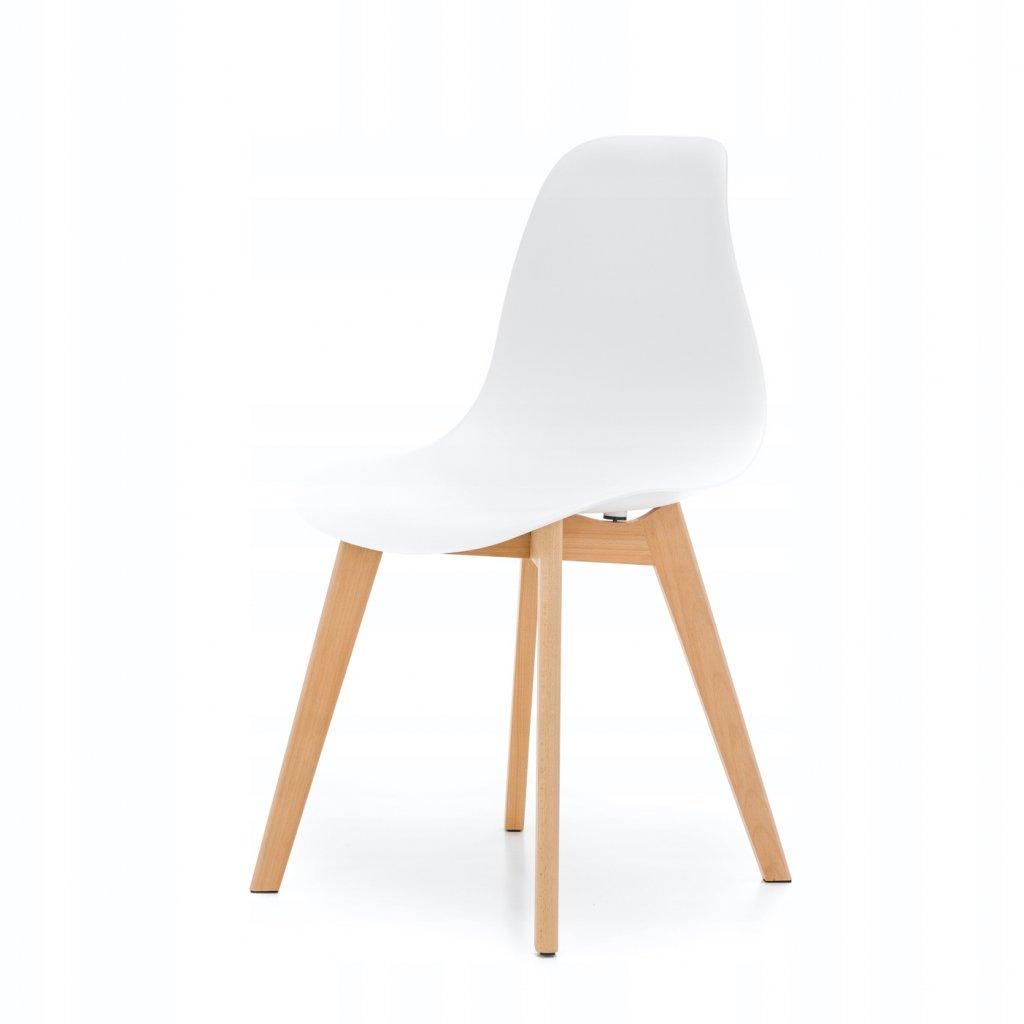 PROXIMA.store škandinávska jedálenská stolička SK17 biela 8