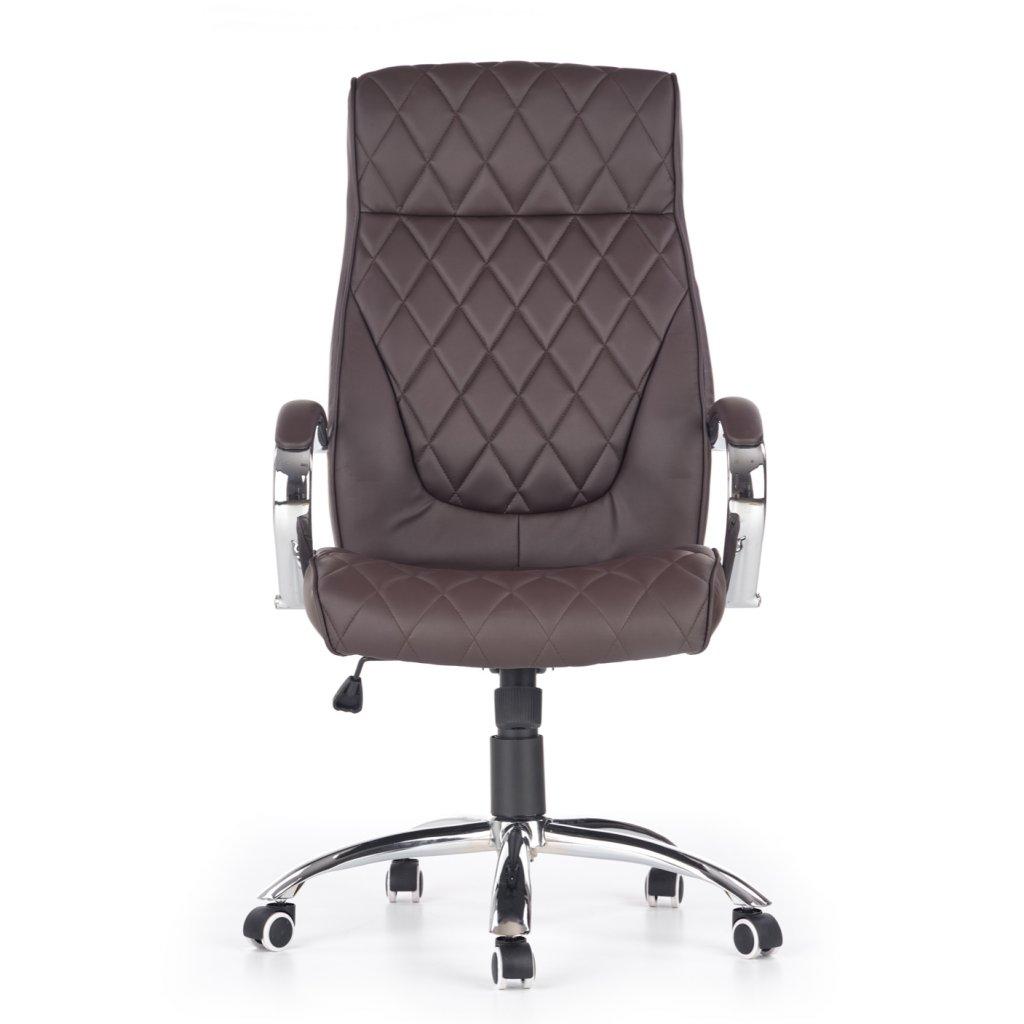 PROXMA.store kancelarska stolicka hneda ekokoza HILTON kozenna 4
