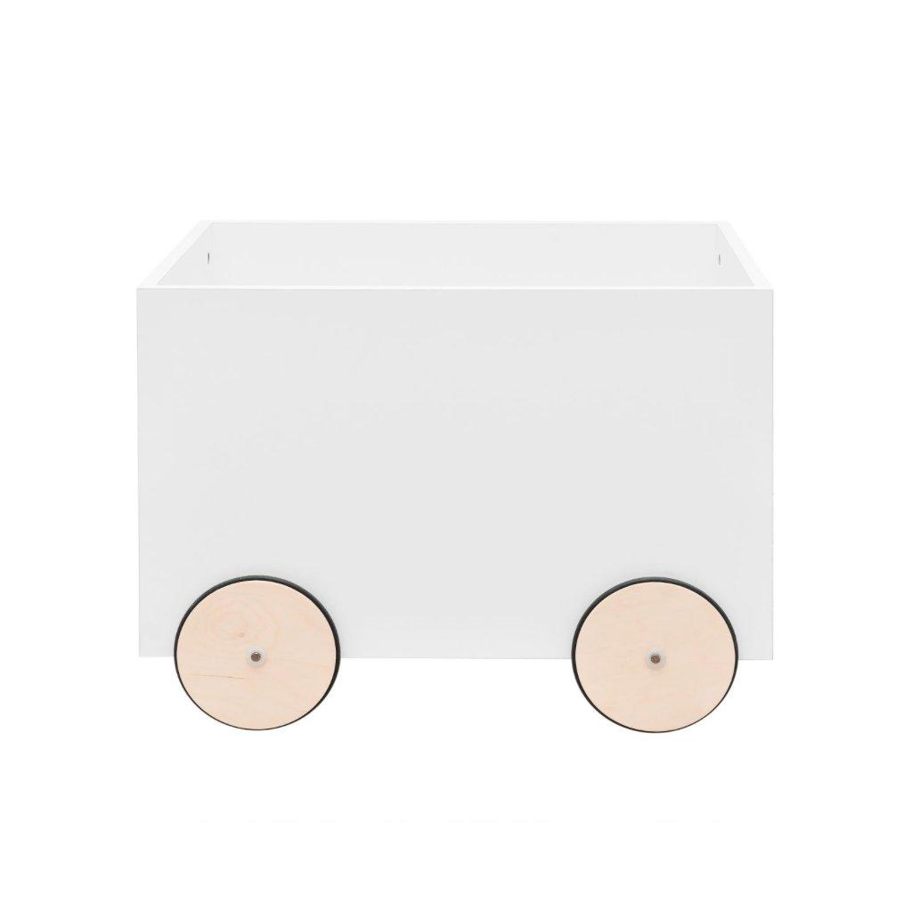 PROXIMA.store box na hracky s kolesami lotta biely 7