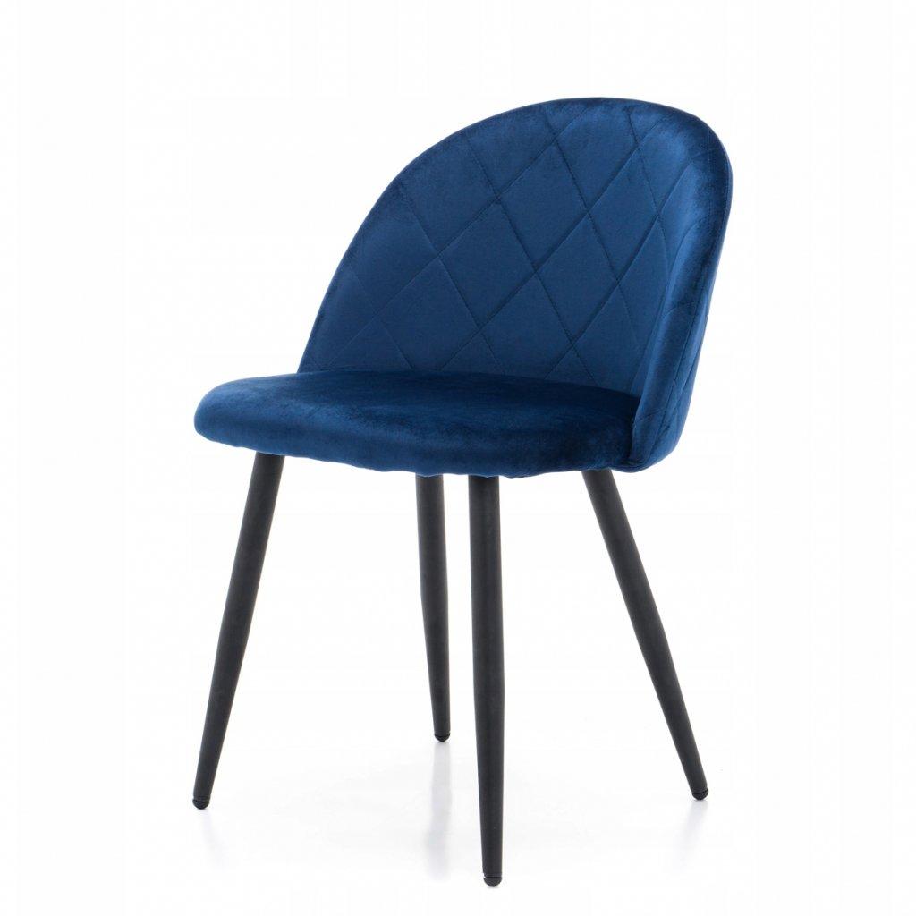PROXIMA.store jedálenská stolička MODENA 3 modrá kovové nohy 2