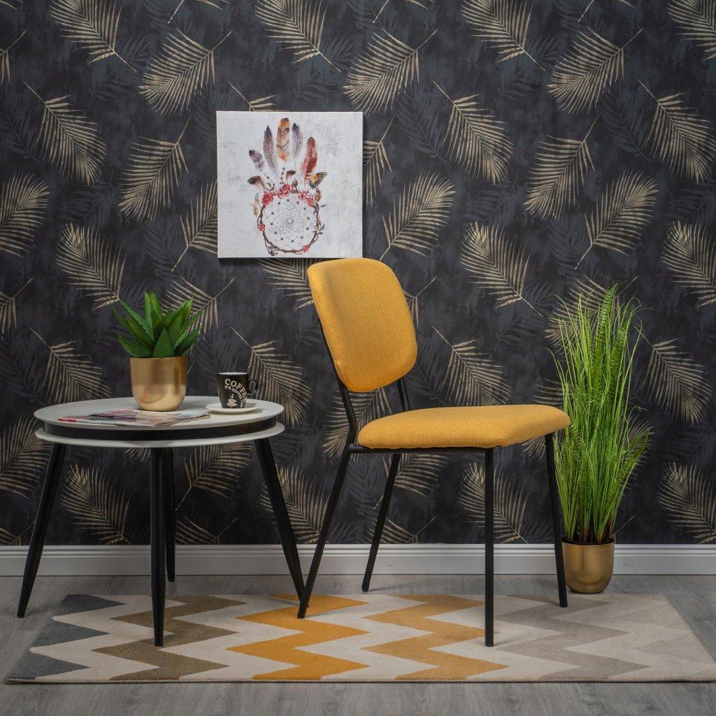 PROXIMA.store stolička VINTAGE žltá 2