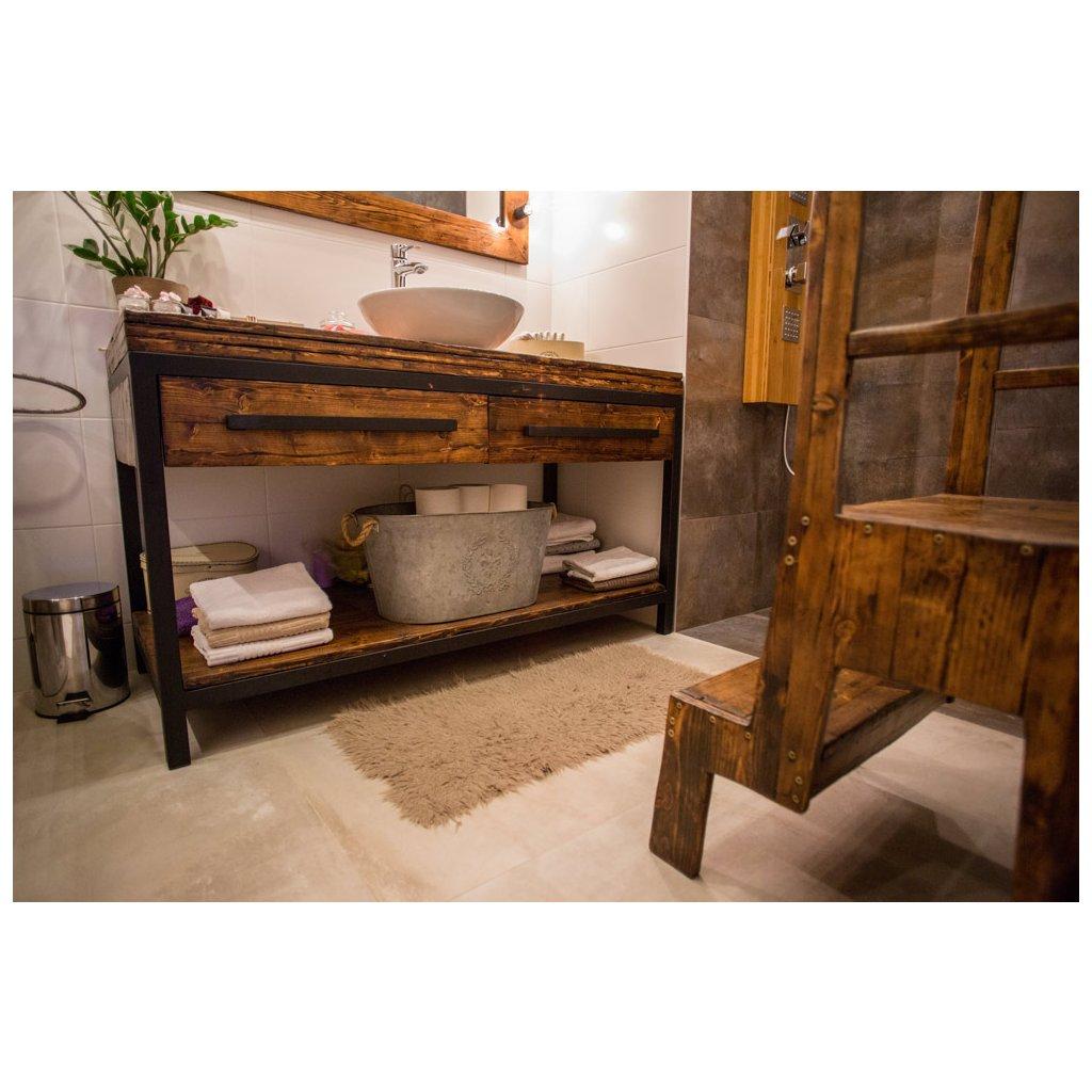 Industriálny stolík pod umývadlo Chennai Made by SÝKORA 2