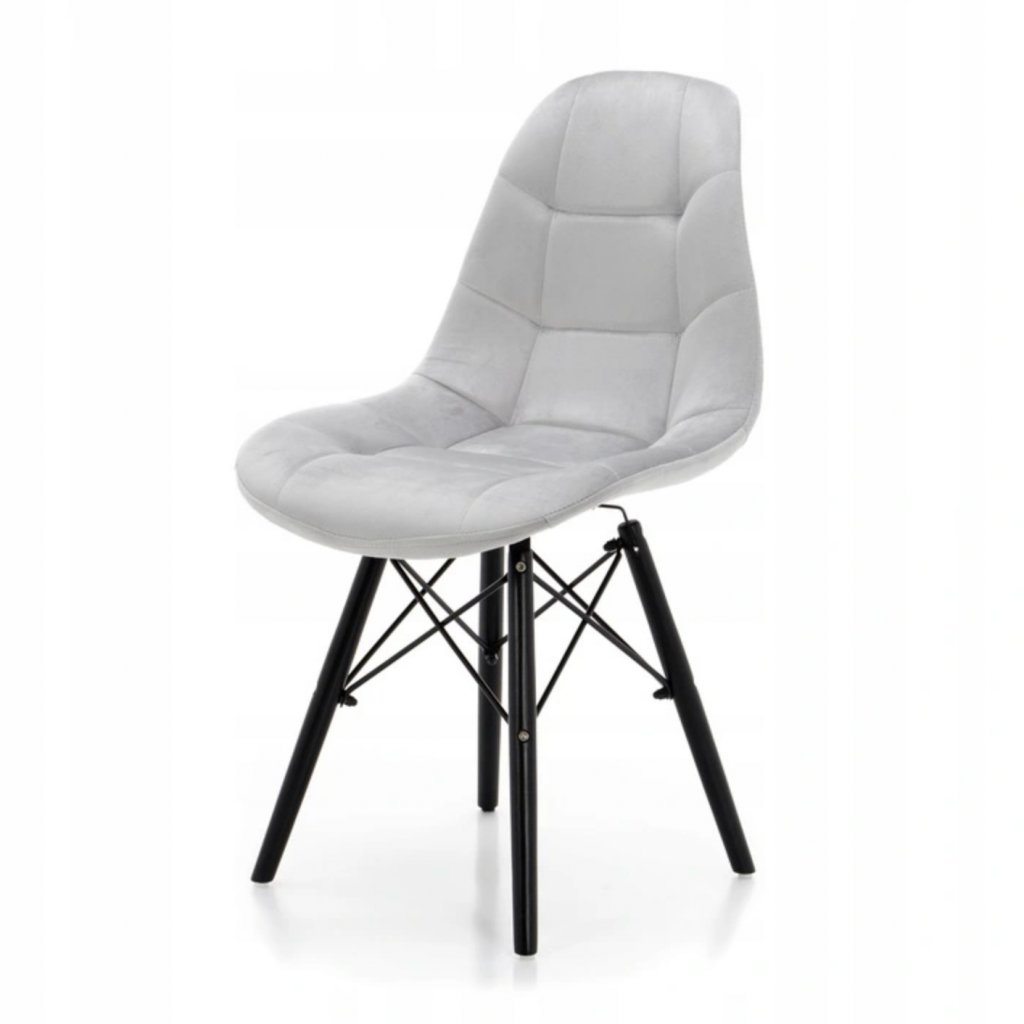 PROXIMA.store čalunena stolicka skandinavsky dizajn MOON svetlosivá cierne nohy 4