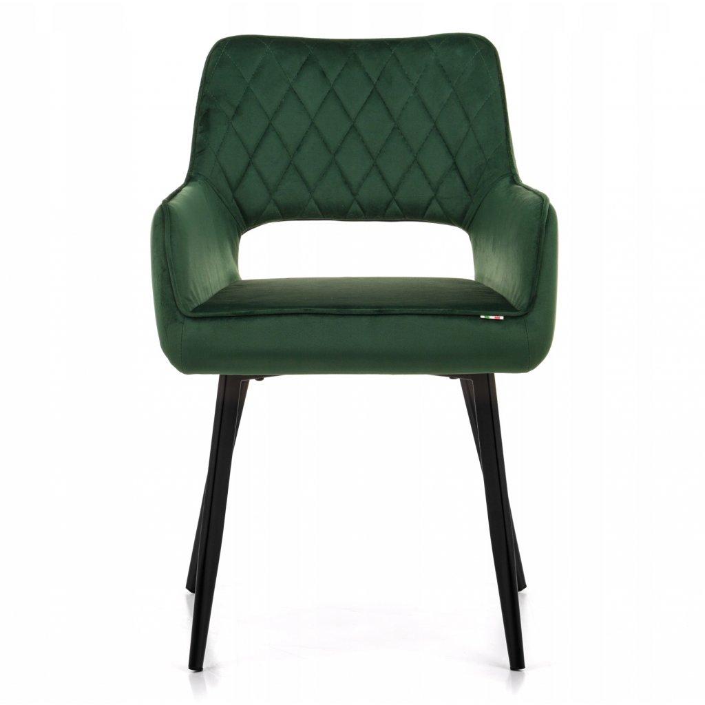 PROXIMA.store jedalenska stolicka taliansky dizajn FOGLIA velur zelená 8