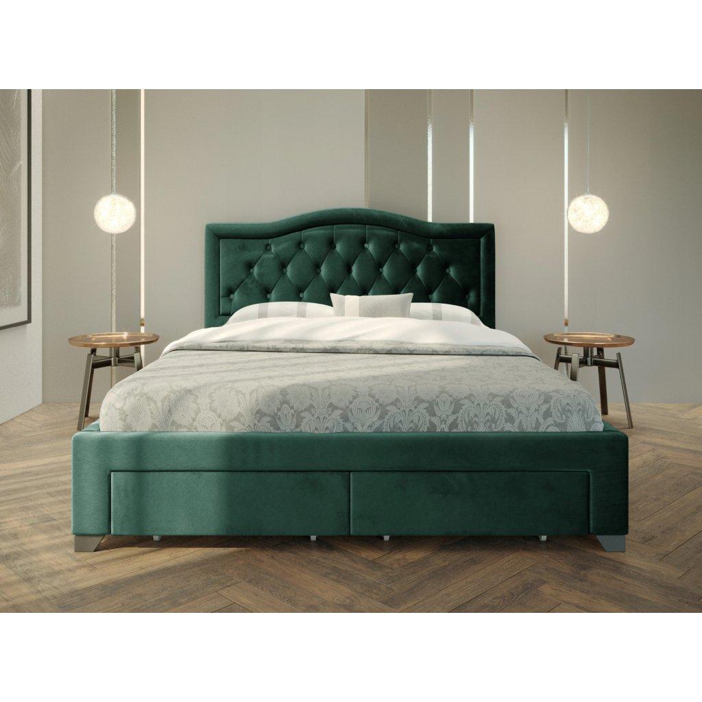 PROXIMA.store Manželská posteľ electra Zelená 3