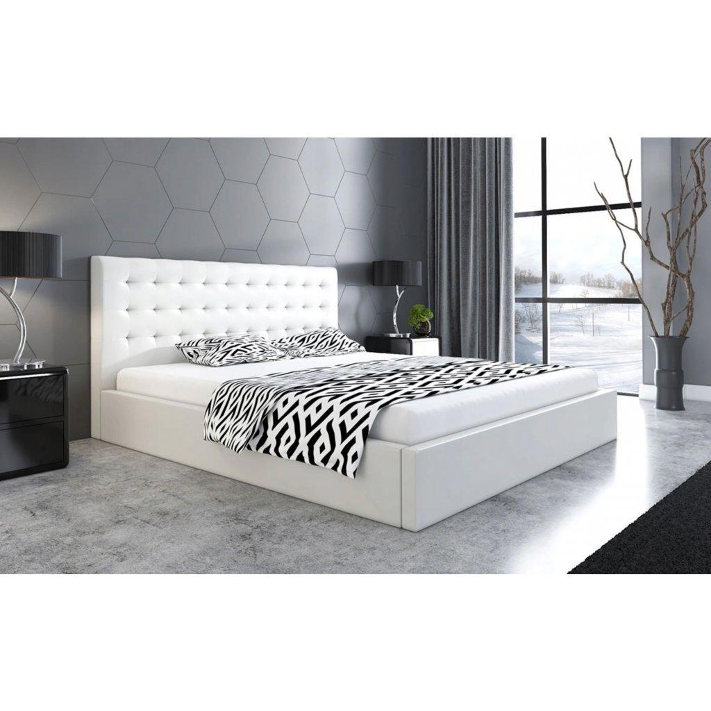 PROXIMA.store manzelska calunena postel na mieru SLIM 2 biela