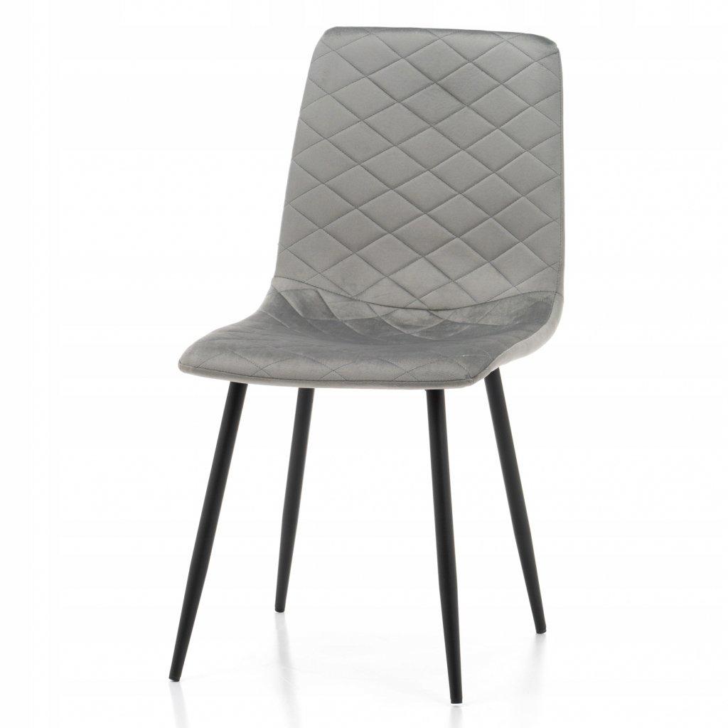 PROXIMA.store jednoducha jedalenska stolicka skovovymi nohami SIMPLE svetlosiva 6