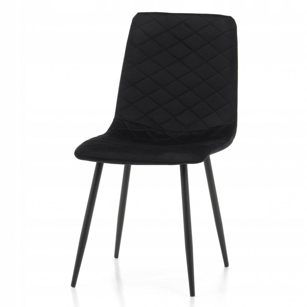 PROXIMA.store jednoducha jedalenska stolicka skovovymi nohami SIMPLE cierna 4