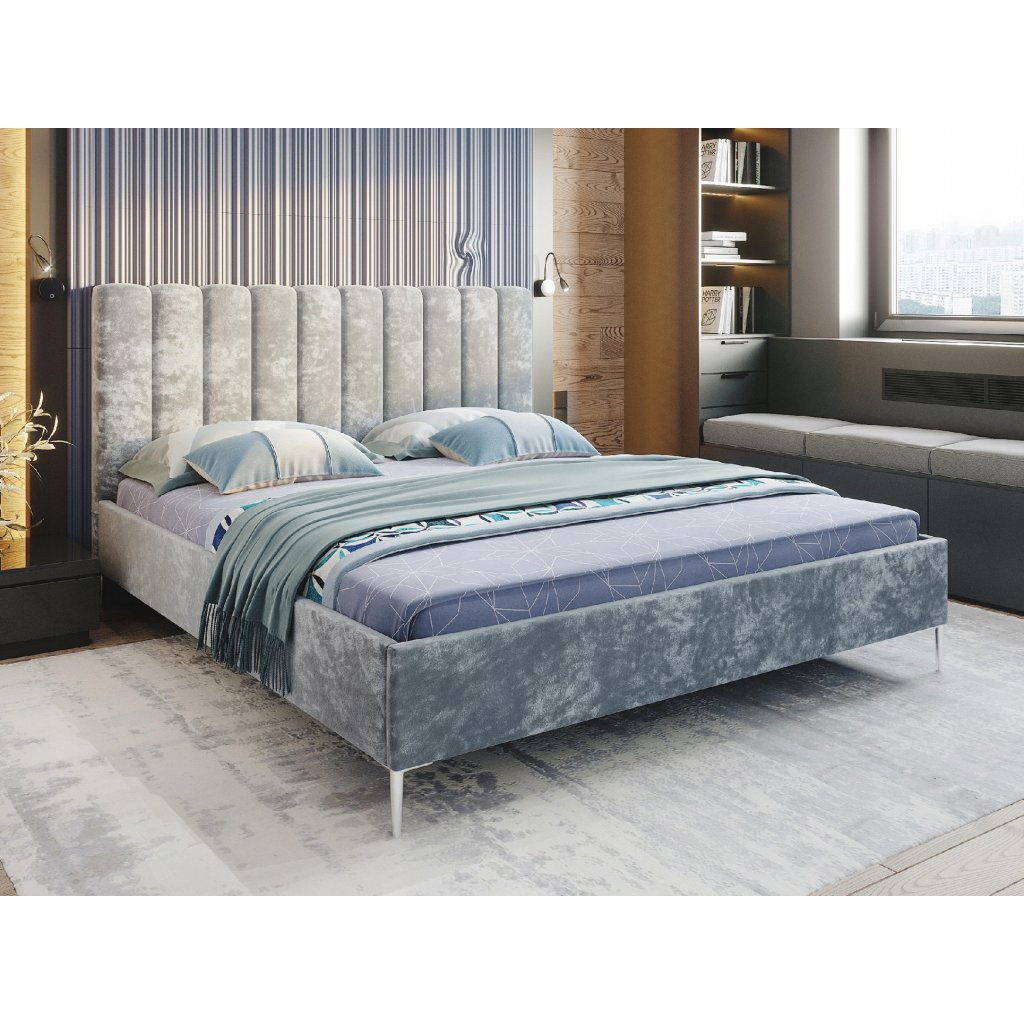 Čalúnená posteľ CAROLLA - farba na mieru - 120/140/160/180