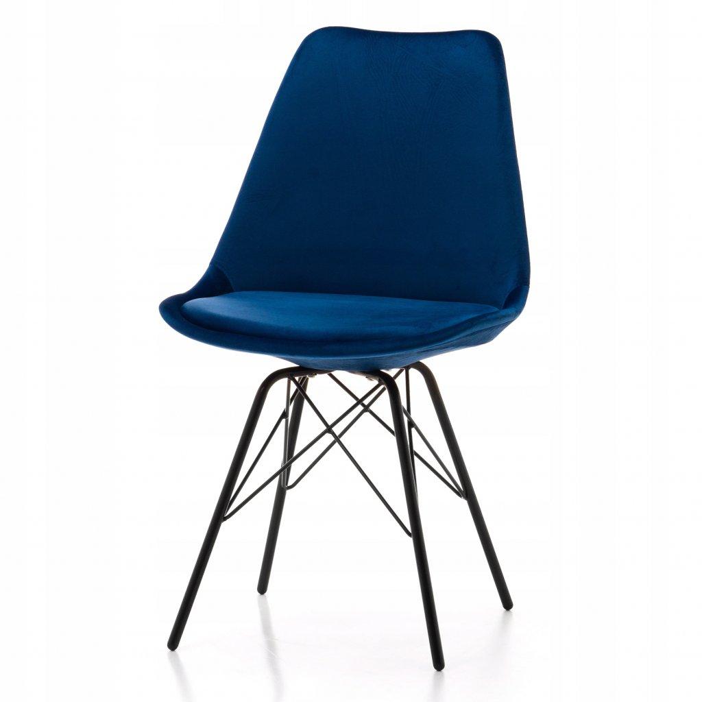 PROXIMA.store dizajnove velurove stolicky DUBLIN STYLE modre 2