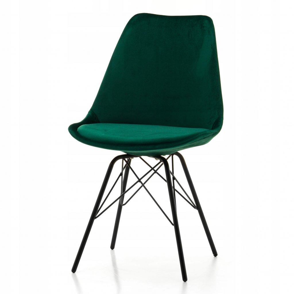 PROXIMA.store dizajnove velurove stolicky DUBLIN STYLE zelena 2