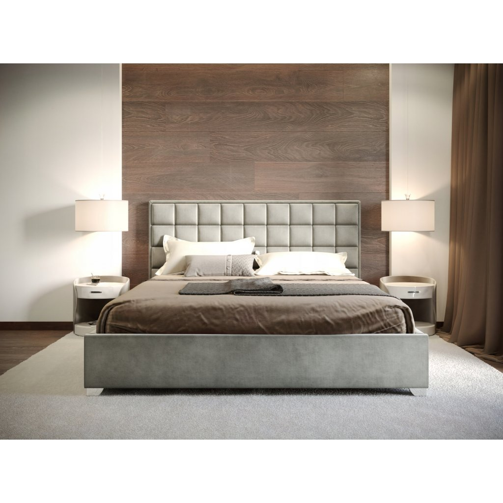 Manželská posteľ MONZA - Sivá - 160