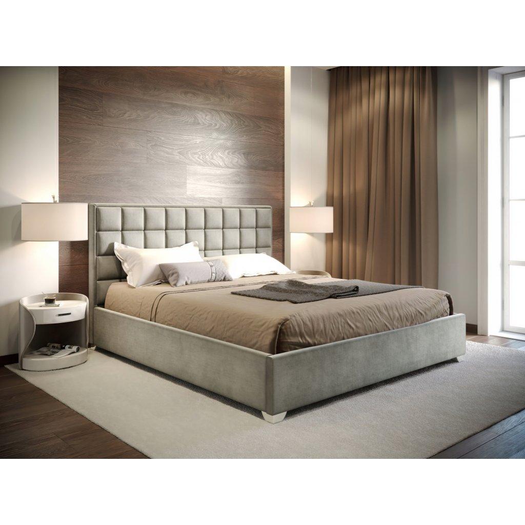 Manželská posteľ LUDWIG - Sivá 140