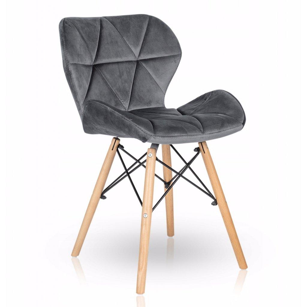 PROXIMA.store Jedálenská stolička Duro 2 Sivá 1