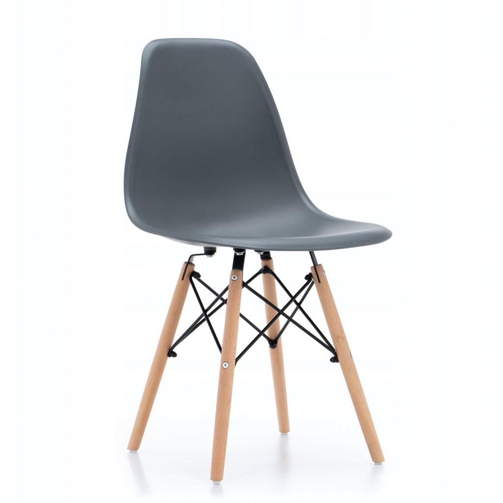 PROXIMA.store Jedálenská stolička ENZO sivá 3