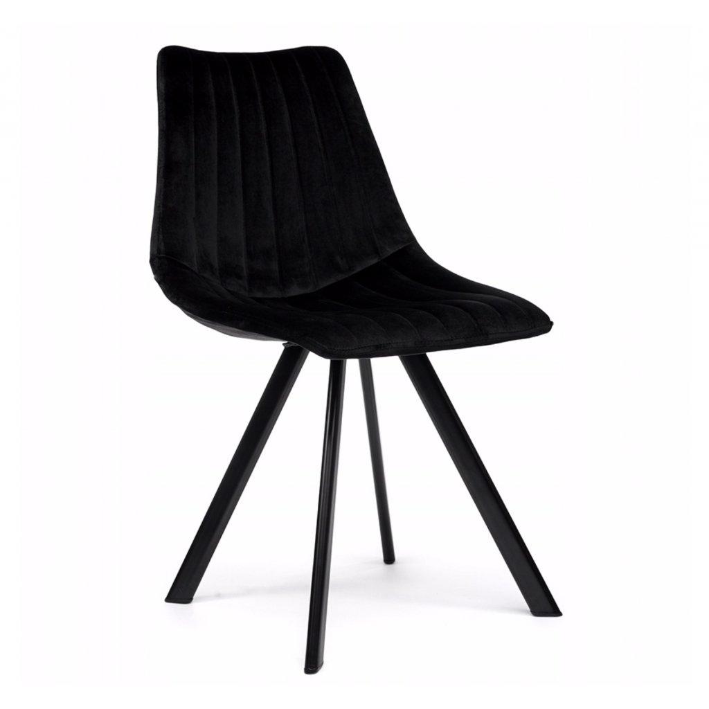 PROXIMA.store Čalúnená stolička s kovovými nohami LUGO Čierna 1