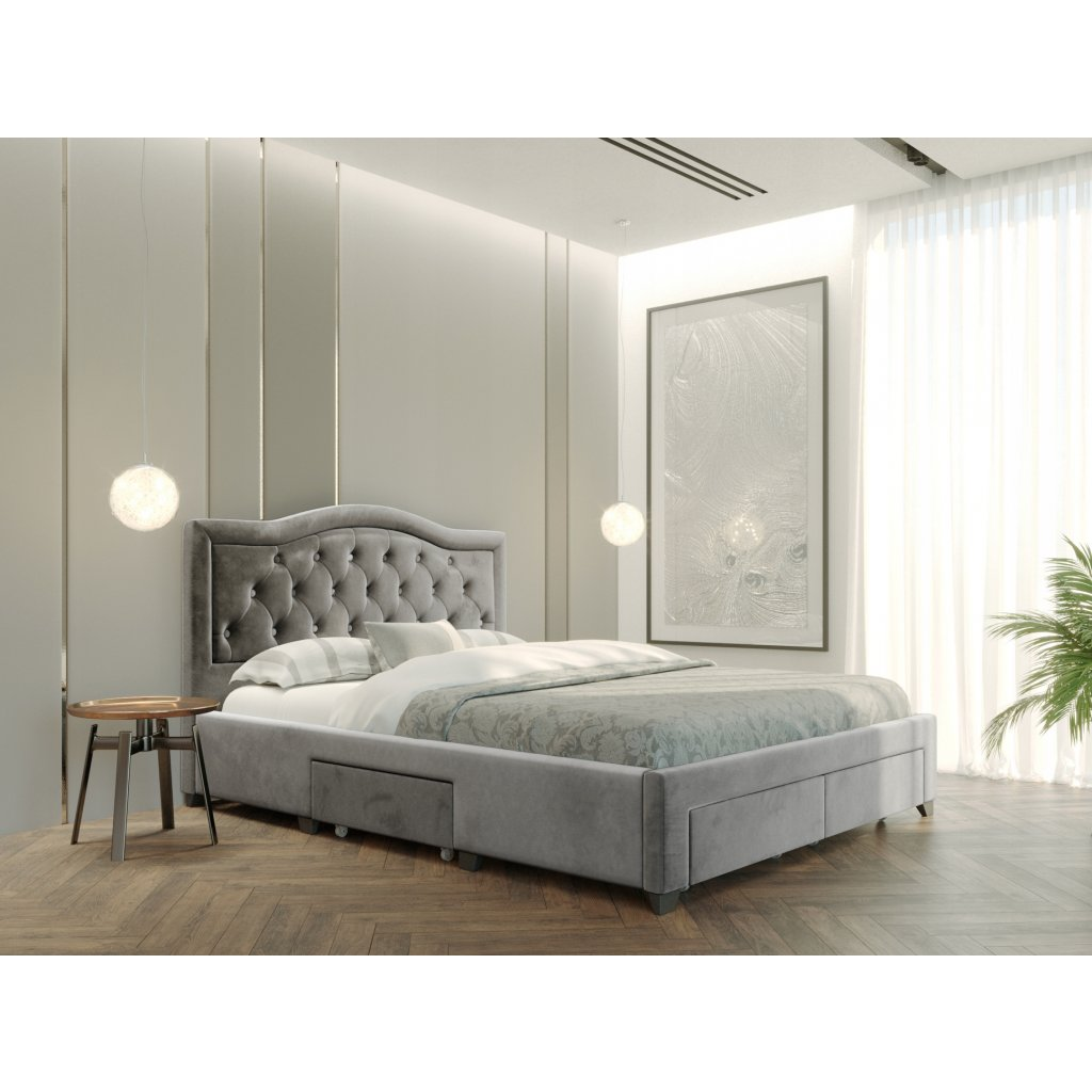 PROXIMA.store Manželská posteľ electra sivá 2
