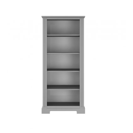Ines grey bookcase 01 white back