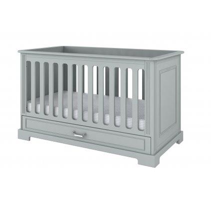 Ines grey cot bed 70x140
