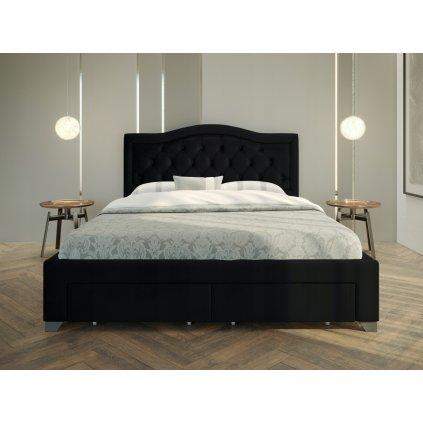 PROXIMA.store Manželská posteľ electra Čierna 1