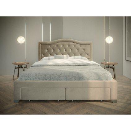 PROXIMA.store Manželská posteľ electra béžová 2