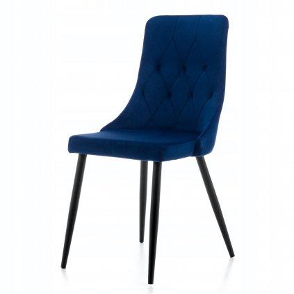 PROXIMA.store Čalúnená jedálenská stolička UNO modra 7