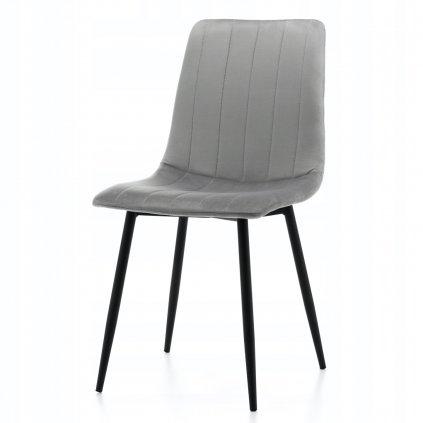 PROXIMA.store čalúnená jedálenská stolička SIMPLE siva 7