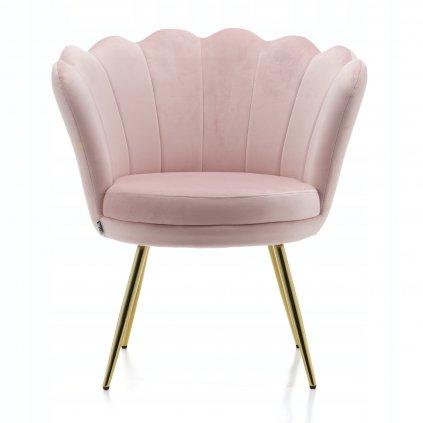 PROXIMA.store glamour kreslo ružové púdrovoružové 8
