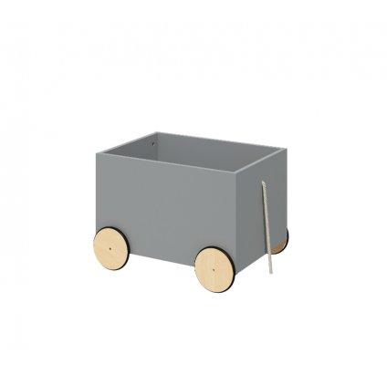 PROXIMA.store box na hracky s kolesami lotta gray sivy 2