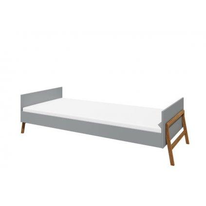 PROXIMA.store detská posteľ 90x200 lotta gray sivá 1